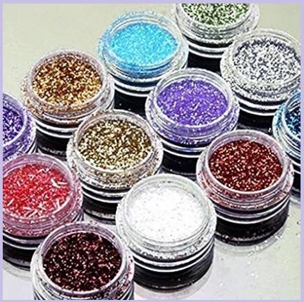 Glitter per unghie in polvere