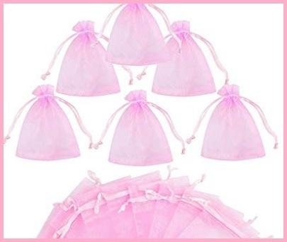 Sacchetti Confetti Rosa Nascita