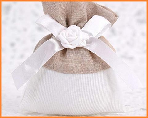 Sacchetto confetti raso bianco