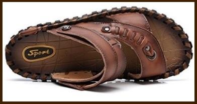 Sandali da uomo lavorati e bassi in pelle