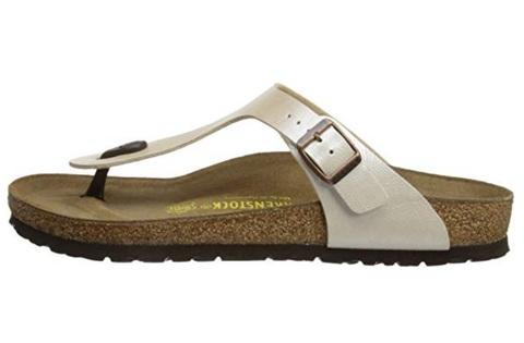Sandalo infradito basso in sughero e in pelle