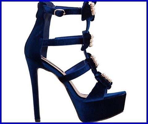 Sandali gioiello blu elettrico