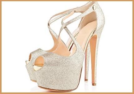 Sandali gioiello altissimi argento