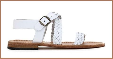 Sandali donna bassi bianchi