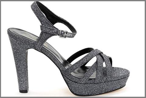 Sandali con tacco argento