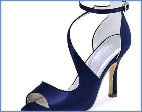 Sandali sposa blu