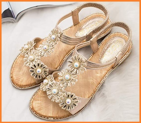 Sandali con elastico gioielli