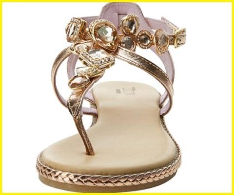 Sandali oro con gioielli