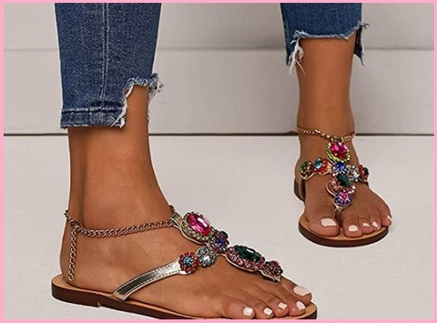 Sandali ragazze con gioielli