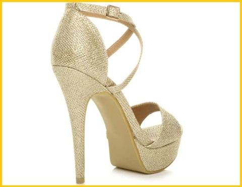 Sandali con tacco gioielli