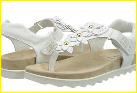 Sandalo bianco con gioielli