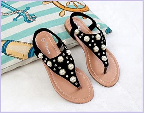 Sandali gioielli con elastici