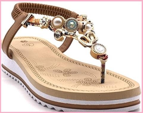 Sandali pelle gioielli