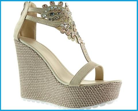 Sandali con plateau gioielli
