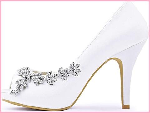 Sandali gioiello per sposa