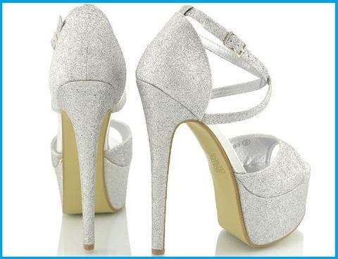 Sandalo argento con gioielli
