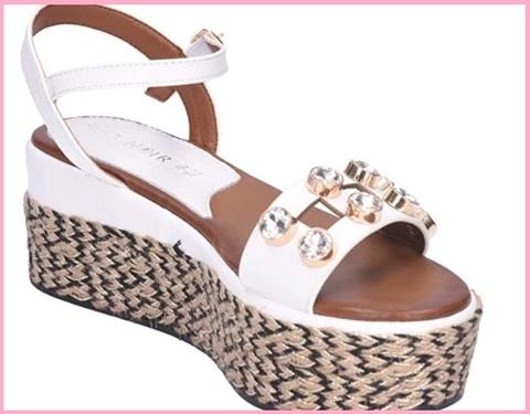 Sandalo bianco strass