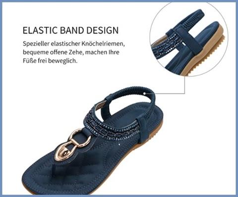 Sandalo gioielli blu