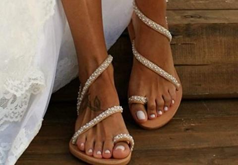 Sandalo donna con gioielli