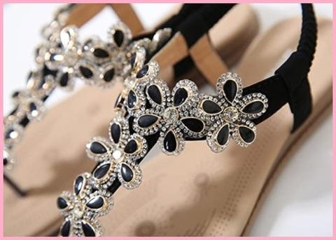 Sandali gioielli neri donna