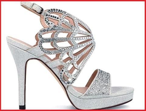 Sandalo plateau con gioielli donna