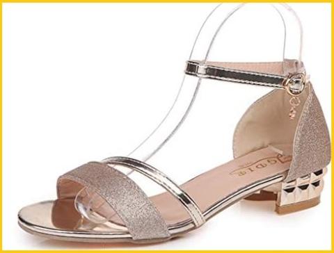 Sandalo con gioielli e tacco