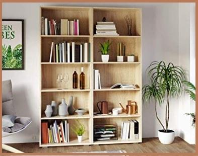 Scaffale libreria legno chiaro