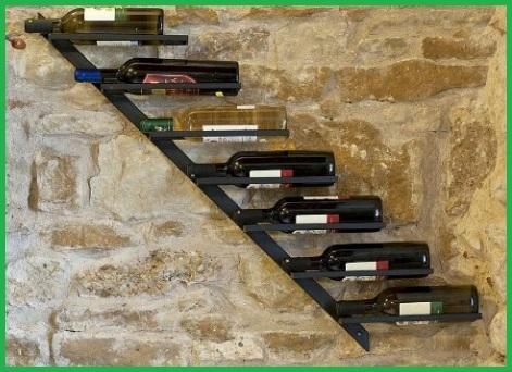 Scaffali vino a parete