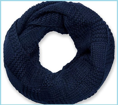 Scaldacollo blu scuro a maglia