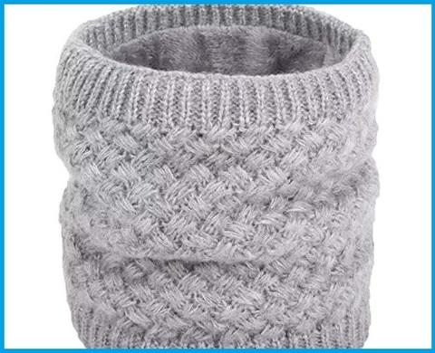Scaldacollo lana donna grigio