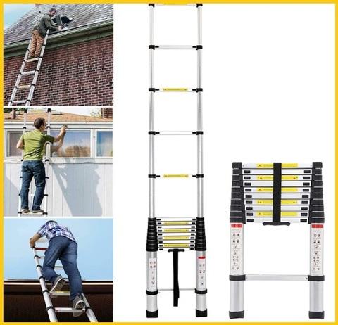 Scala multiuso estensibile in alluminio