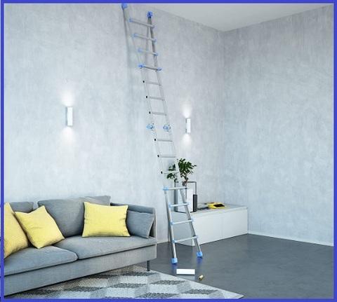 Scala multiuso pieghevole in alluminio