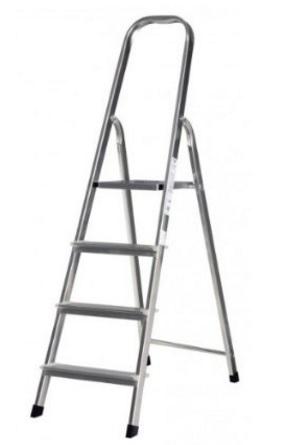 Scala in alluminio con 3 rampe montante