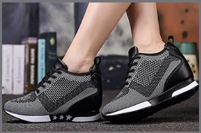 Scarpe sneakers donna zeppa  579a907dc45