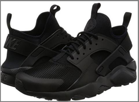 Scarpe uomo sneakers alte nere