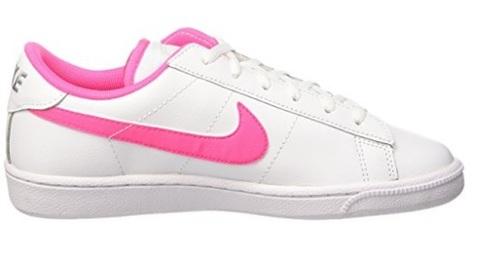 Scarpe da bambina per tennis rosa e bianche in pelle
