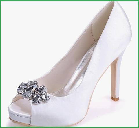 Scarpe con tacco a spillo da sposa con plateau