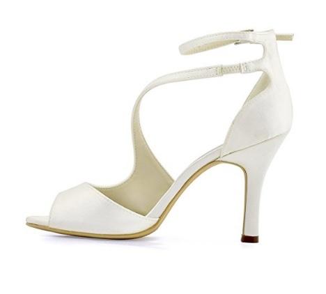 Sandali da sposa con tacco a spillo in raso