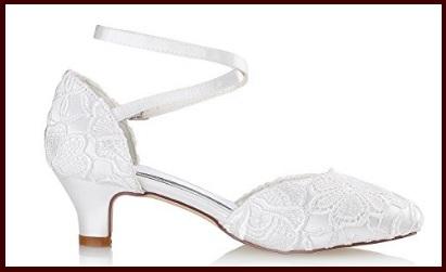 Scarpe sposa comode avorio