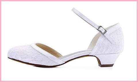 Scarpe sposa comode bianche