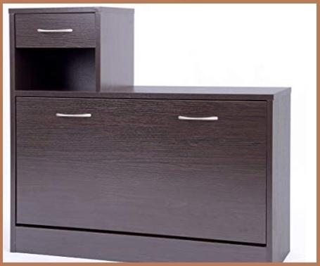 Scarpiera armadio legno scuro