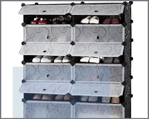 Scarpiera armadio guardaroba scaffale mobiletto modulare