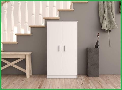 Scarpiera armadio legno bianco