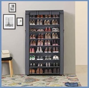 Scarpiera armadio grigio