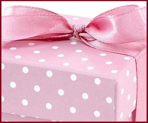 Scatoline Portaconfetti Nascita Rosa Pois