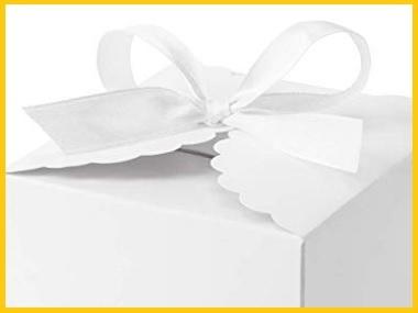 Scatoline confetti bianche