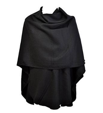 Poncho mantella dal colore nero alla moda
