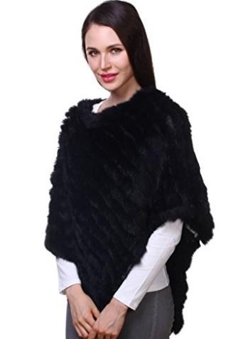Mantella in vera pelliccia stile scialle