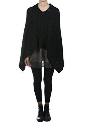 Poncho donna intrecciato alla moda