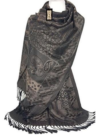 Pashmina Alla Moda Mosaico Fashion Con Frange